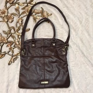 Steve Madden Brown Faux Leather Large Purse